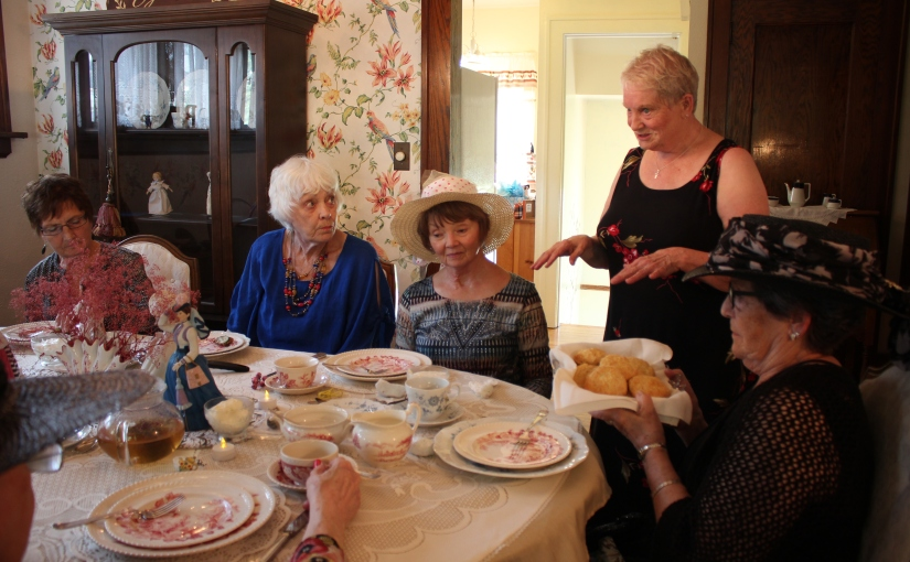 "High Tea Party: ""very, very English."""